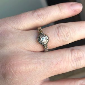 John Hardy sterling silver & 14k gold ring